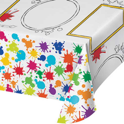 Art Party Plastic Activity Tablecover