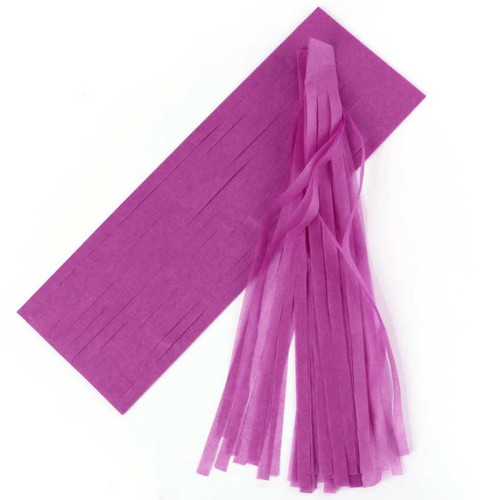 DIY Purple Tassel Garland