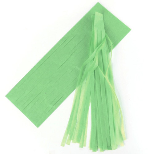 DIY Light Green Tassel Garland
