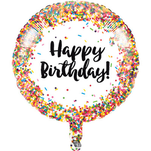 "18"" Sprinkles Happy Birthday Balloon"