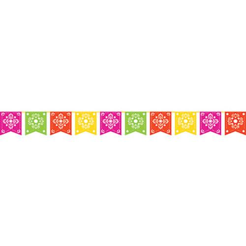 Fiesta Serape Papel Picado Banner