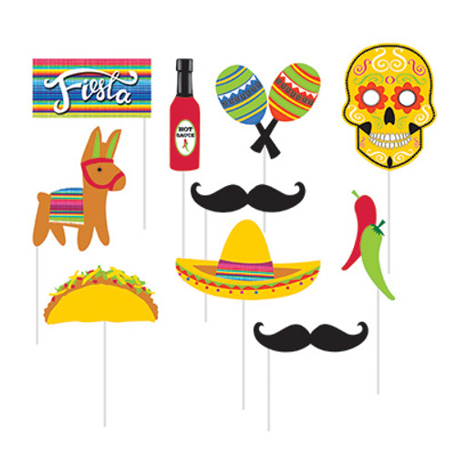 Fiesta Serape Photo Booth Props