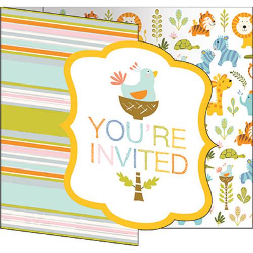 Happi Jungle Gatefold Invitations