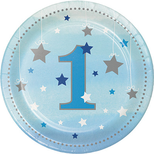 "One Little Star Boy 7"" Lunch Plates"