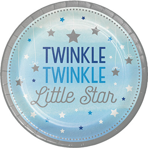 "One Little Star Boy Twinkle 7"" Lunch Plates"