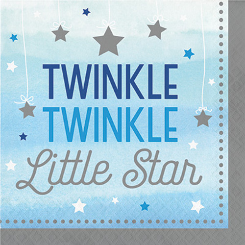 One Little Star Boy Twinkle 2-Ply Lunch Napkins