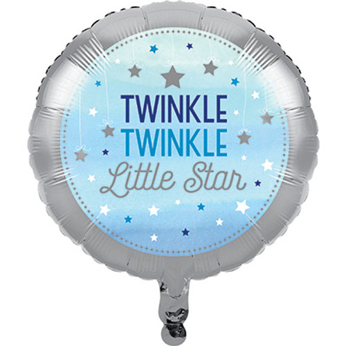 "18"" One Little Star Boy Foil Balloon"