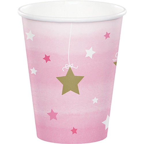 One Little Star Girl 9 oz. Hot/Cold Cups