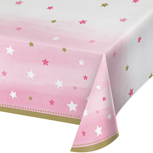 One Little Star Girl Plastic Tablecover