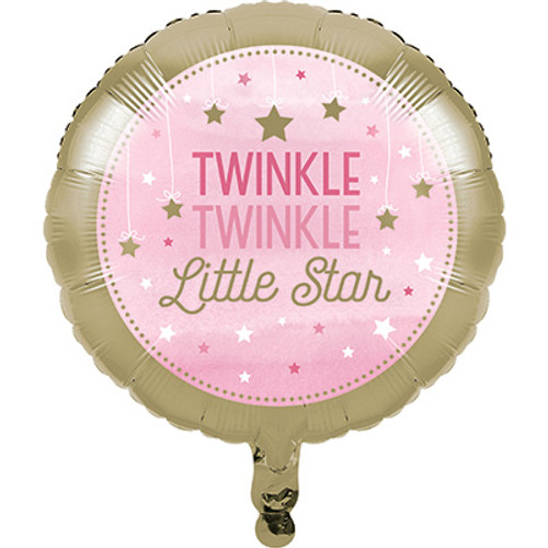 "18"" One Little Star Girl Foil Balloon"