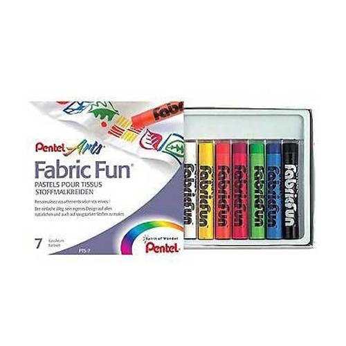 Pentel Fabric Fun Pastel Dye sticks 7 Colors/box