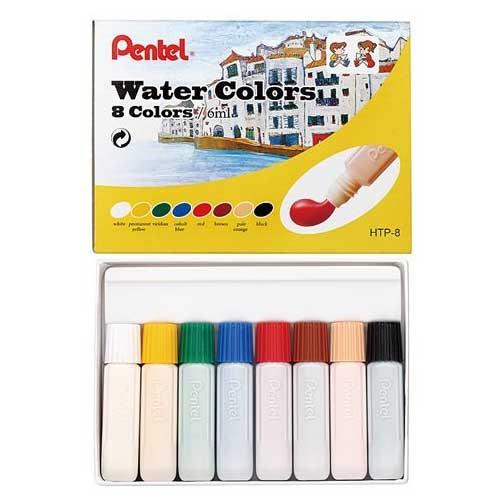 Pentel Water Colors 8 colors/box