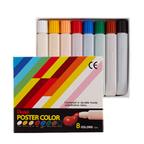 Pentel Poster Color 8 colors/box