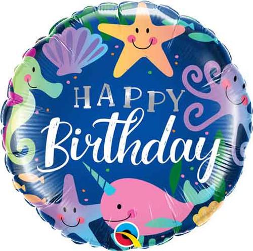 """18"""" Birthday Fun Under The Sea Balloon"""