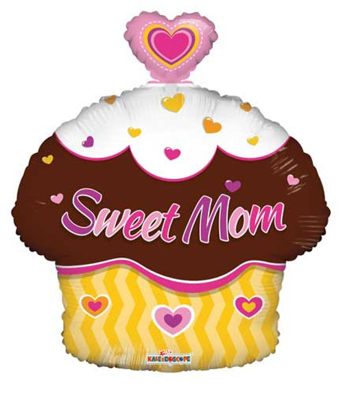 "18"" Sweet Mom Cupcake Junior Shape Balloon"
