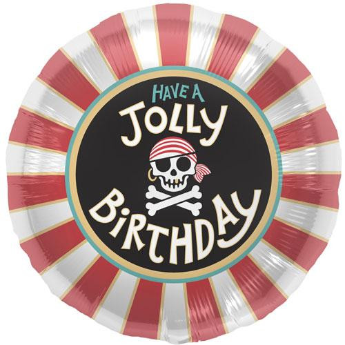 "18"" Pirate Jolly Birthday Balloon"