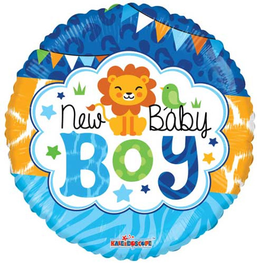 "18"" Baby Boy Jungle Non-Foil Balloon"