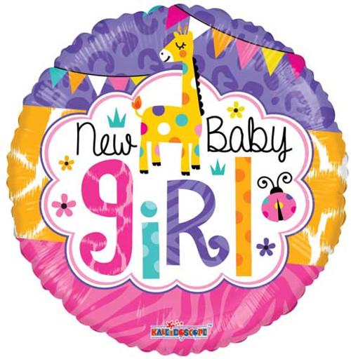 """18"""" Baby Girl Jungle Non-Foil Balloon"""