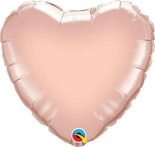 "18"" Metallic Rose Gold Heart Foil Balloon"