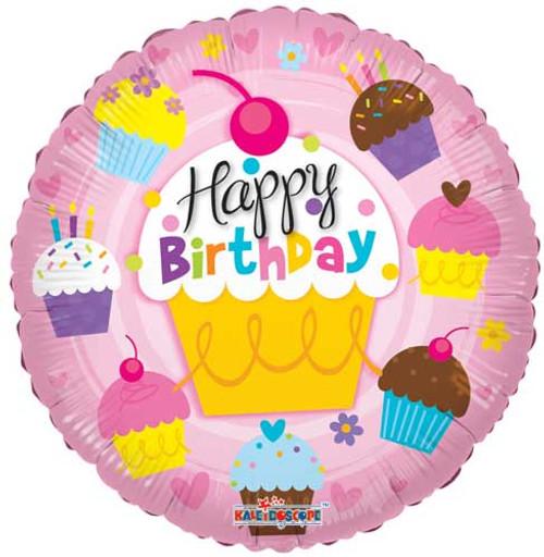 """18"""" Birthday Cupcakes Balloon"""