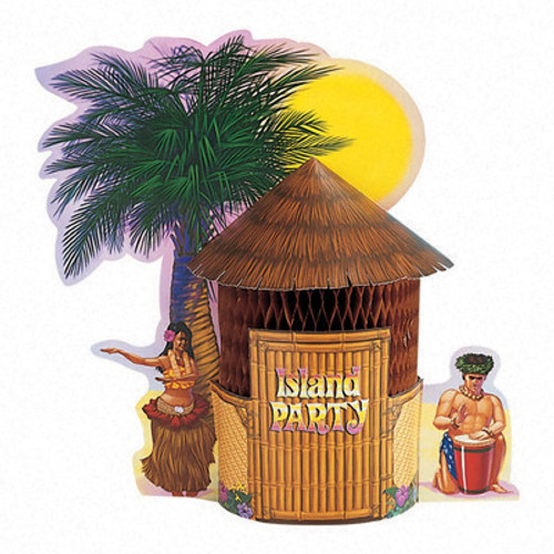 Tiki Hut Honeycomb Centerpiece