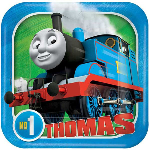 "Thomas All Aboard 7"" Square Dessert Plates"