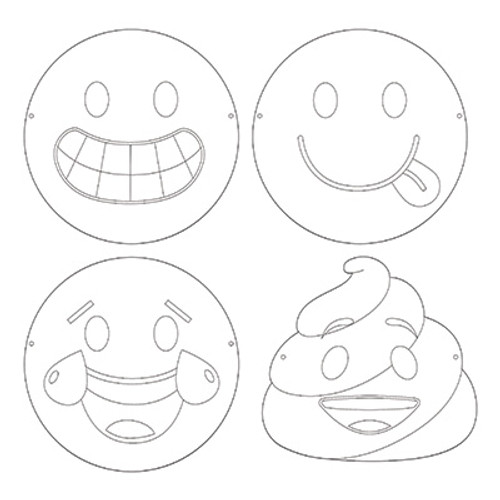 Show Your Emojions Color-Your-Own Paper Masks