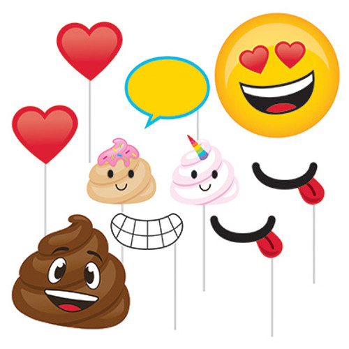 Poop Emojions Photo Booth Props