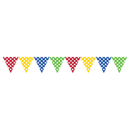 Multicolor Dots Paper Flag Banner