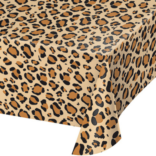 Leopard Print Plastic Tablecover