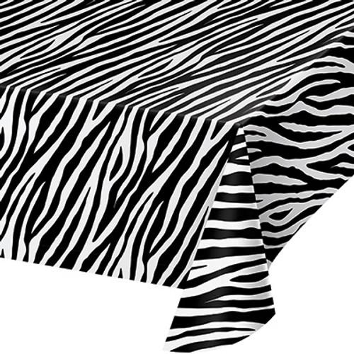 Zebra Print Plastic Tablecover
