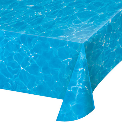 Water Print Plastic Tablecover