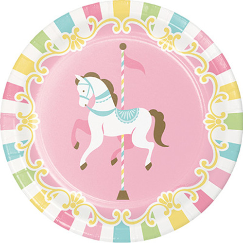"Carousel 7"" Lunch Plates"