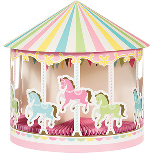 Carousel 3D Shaped Honeycomb Centerpiece