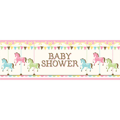 Carousel Baby Shower Giant Party Banner