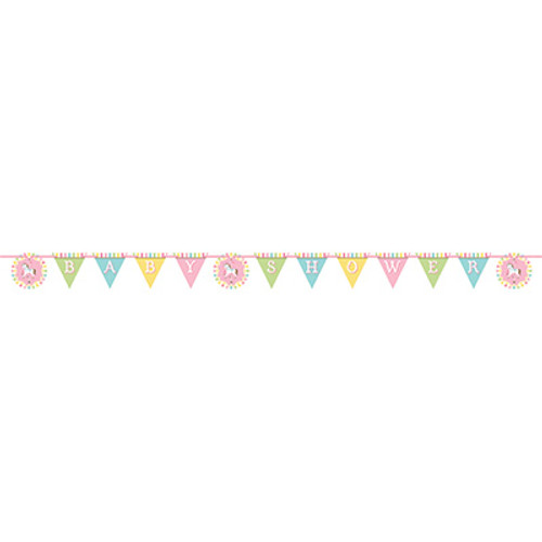 Carousel Shaped Baby Shower Ribbon Banner
