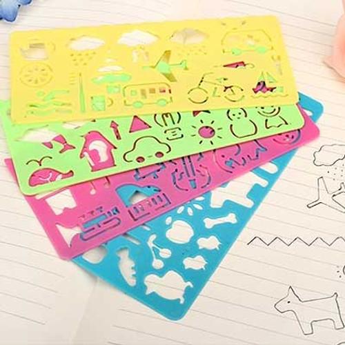 Children Stencil Ruler 4pcs/pack