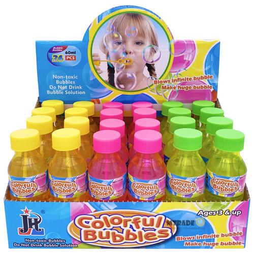 60ml Bubble Water Bottle Assorted Color 24pcs/box