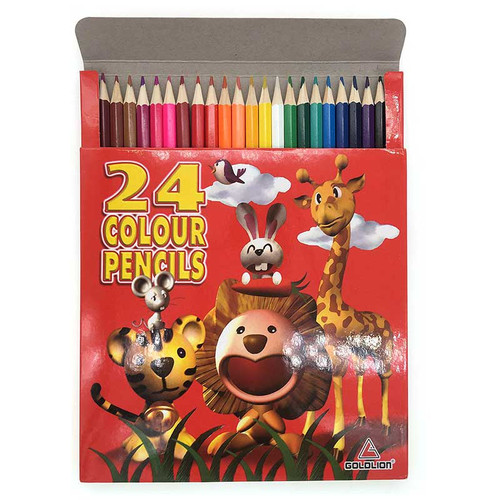 Animals Long Color Pencil 24 colors per Box