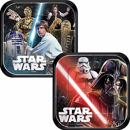 Star Wars Classic 7 Square Dessert Plates