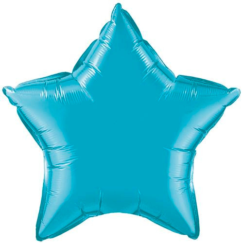 "20"" Metallic Turquoise Star Foil Balloon"