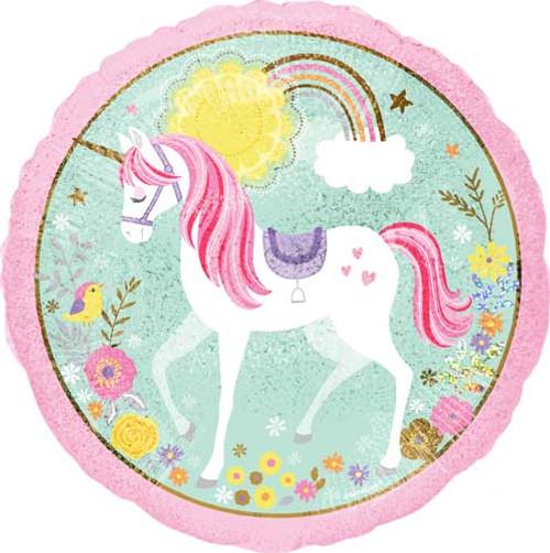 "17"" Unicorn Magical Foil Balloon"