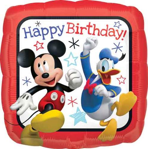 "17"" Mickey Roadster Birthday Square Balloon"