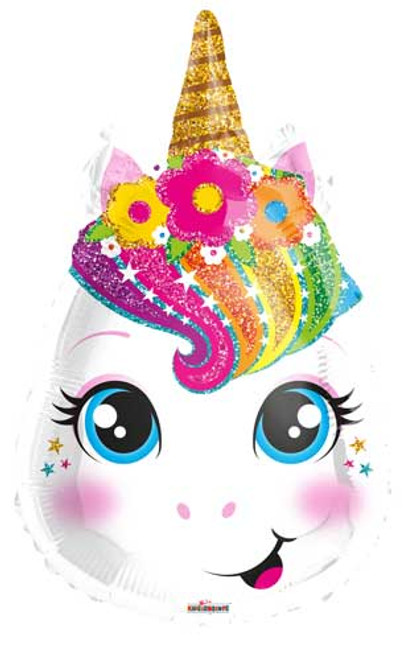 "18"" Unicorn Head Junior Shape Balloon"
