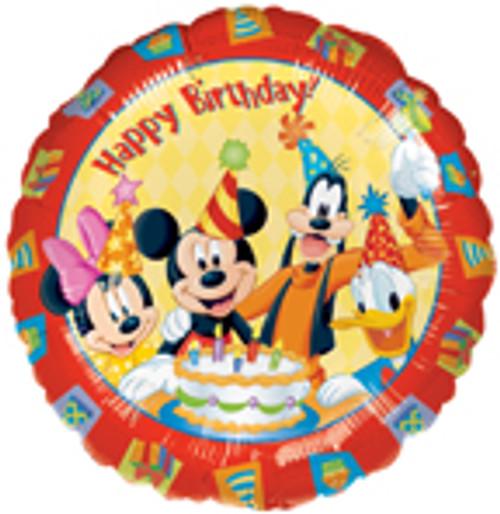 "17"" Mickey & Friends Happy Birthday Balloon"