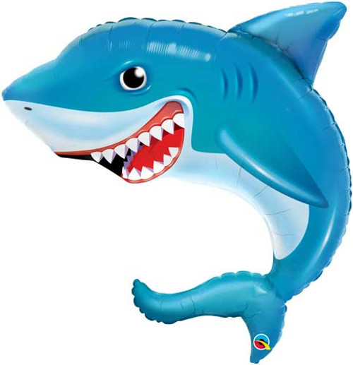 "36"" Smiling Shark Super Shape Balloon"