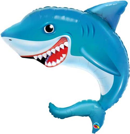 "36"" Smiling Shark Super Shape Balloon"