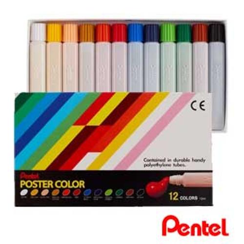 Pentel Poster Color 12 colors/box