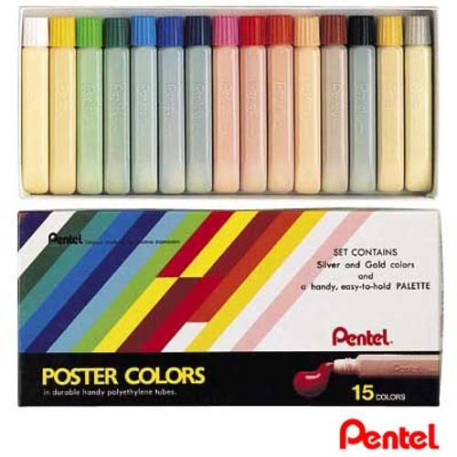 Pentel Poster Color 15 colors/box