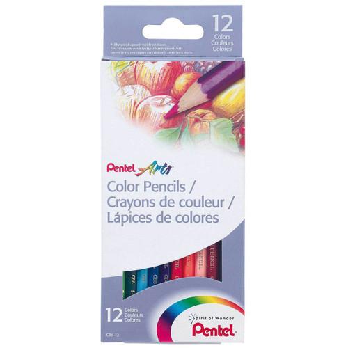 Pentel Color Pencils 12 Colors